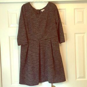 Merona XXL Striped Stretchy Long Sleeve Dress